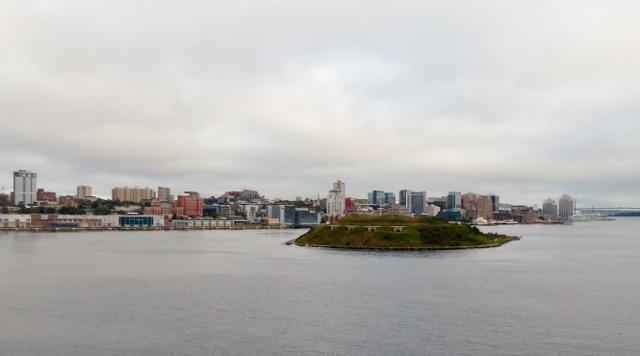 Sailing into Halifax, Nova Scotia