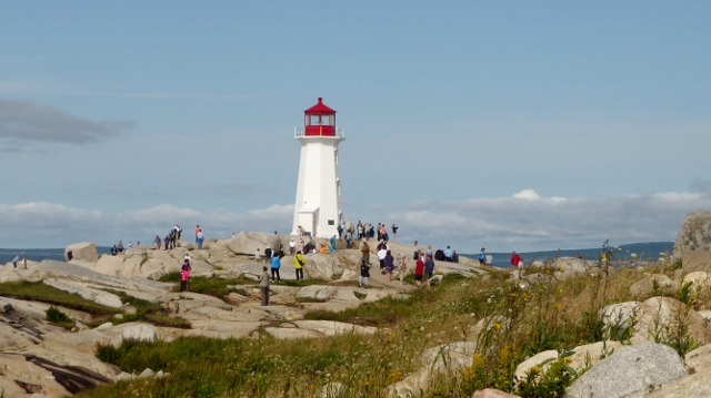The iconic lighthouse at Peggy's Cove, Nova Scotia