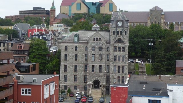 The Courthouse in St John's,  Newfoundland